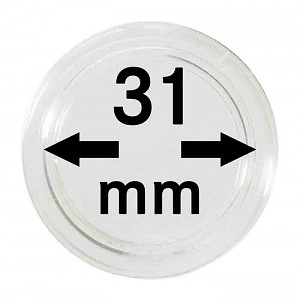 Coin Capsules 31mm, 10 Pieces
