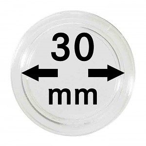 Coin Capsules 30mm, 10 Pieces