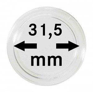Coin Capsules 31,5mm, 10 Pieces