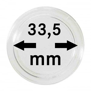 Coin Capsules 33,5mm, 10 Pieces