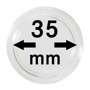 Coin Capsules 35mm, 10 Pieces