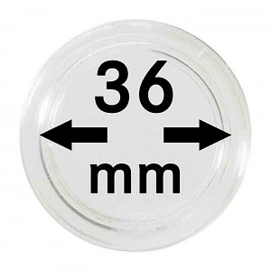 Coin Capsules 36mm, 10 Pieces