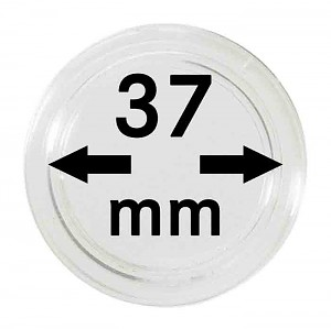Coin Capsules 37mm, 10 Pieces
