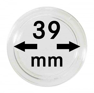 Coin Capsules 39mm, 10 Pieces