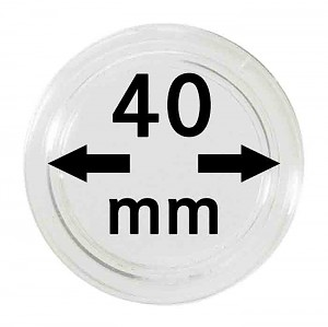 Coin Capsules 40mm, 10 Pieces