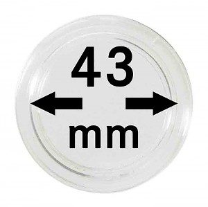 Coin Capsules 43mm, 10 Pieces