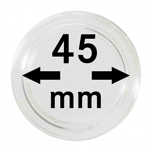 Coin Capsules 45mm, 10 Pieces