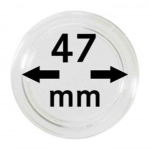Coin Capsules 47mm, 10 Pieces