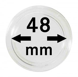 Coin Capsules 48mm, 10 Pieces
