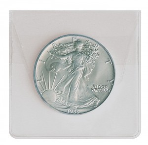 Coin Envelopes (PVC) 60mm, 100 Pieces