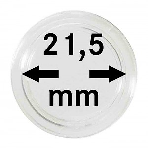 Coin Capsules 21,5mm, 10 Pieces