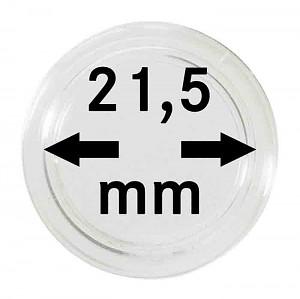 Capsules pour monnaies 21,5mm, 10 pièces