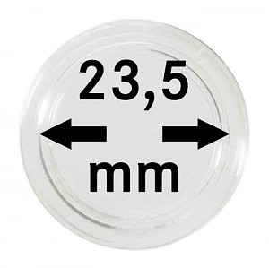 Coin Capsules 23,5mm, 10 Pieces
