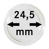 Münzkapseln 24,5mm, 1 Stück