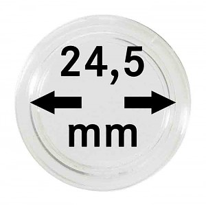 Coin Capsules 24,5mm, 10 Pieces