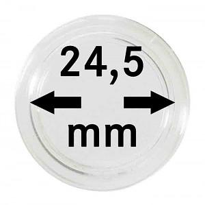 Capsules pour monnaies 24,5mm, 10 pièces