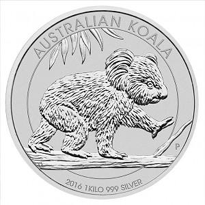 Koala 1kg d'argent fin - 2016