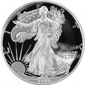 American Eagle 1oz Silver - 1993 (Proof)