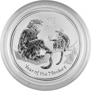 Lunar II Year of the Monkey 1/2oz Silver - 2016