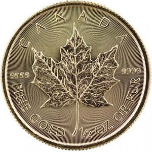 Maple Leaf 1/2oz d'or fin