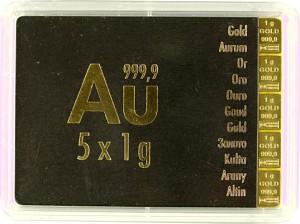 Goldbarren - Tafelbarren - CombiBar 5g (5x 1g)