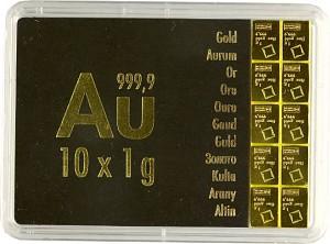 Goldbarren - Tafelbarren - CombiBar 10g (10x 1g)