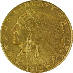 2,5 Dollar American Indian Head 3,76g Gold