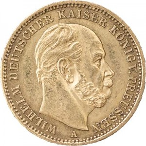 20 Mark Wilhelm I. 7,16g Gold