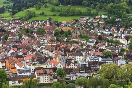 Blick von oben auf Waldkirch